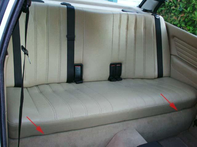 BMW E30 Rear Seat Removal
