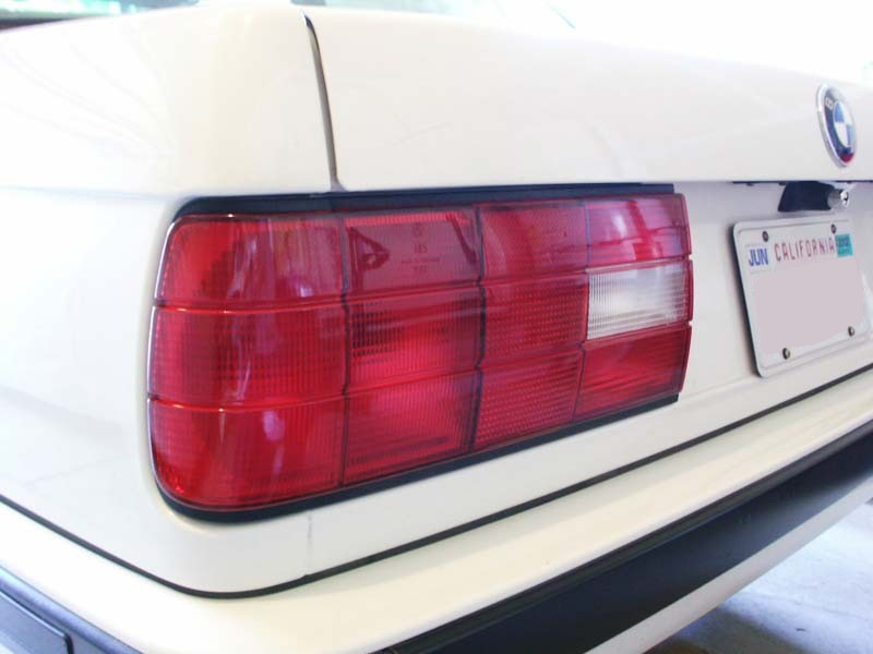Bmw e30 1988 1991 all red tail lights page 1 install i was looking into buying oem all red tail lights but didnt feel like spending 200 300 this mod resulted in a near perfect replica for under 15 in aloadofball Image collections